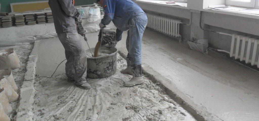 Как приготовить цементный раствор для стяжки пола