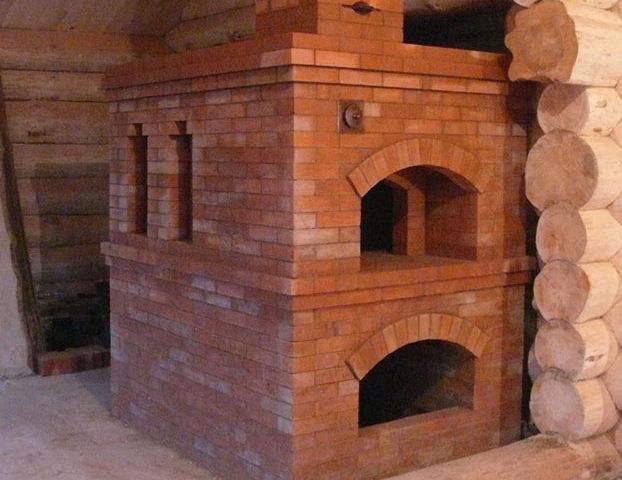 Строительство печи из кирпича