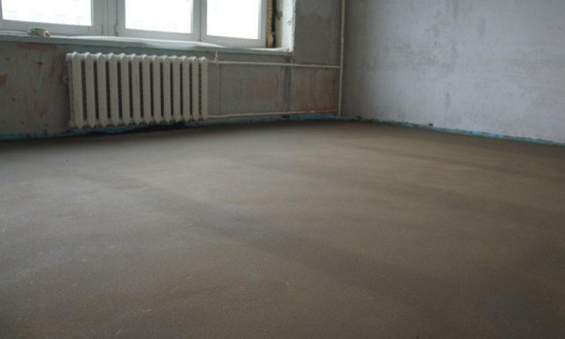 Расход материалов на цементную стяжку пола